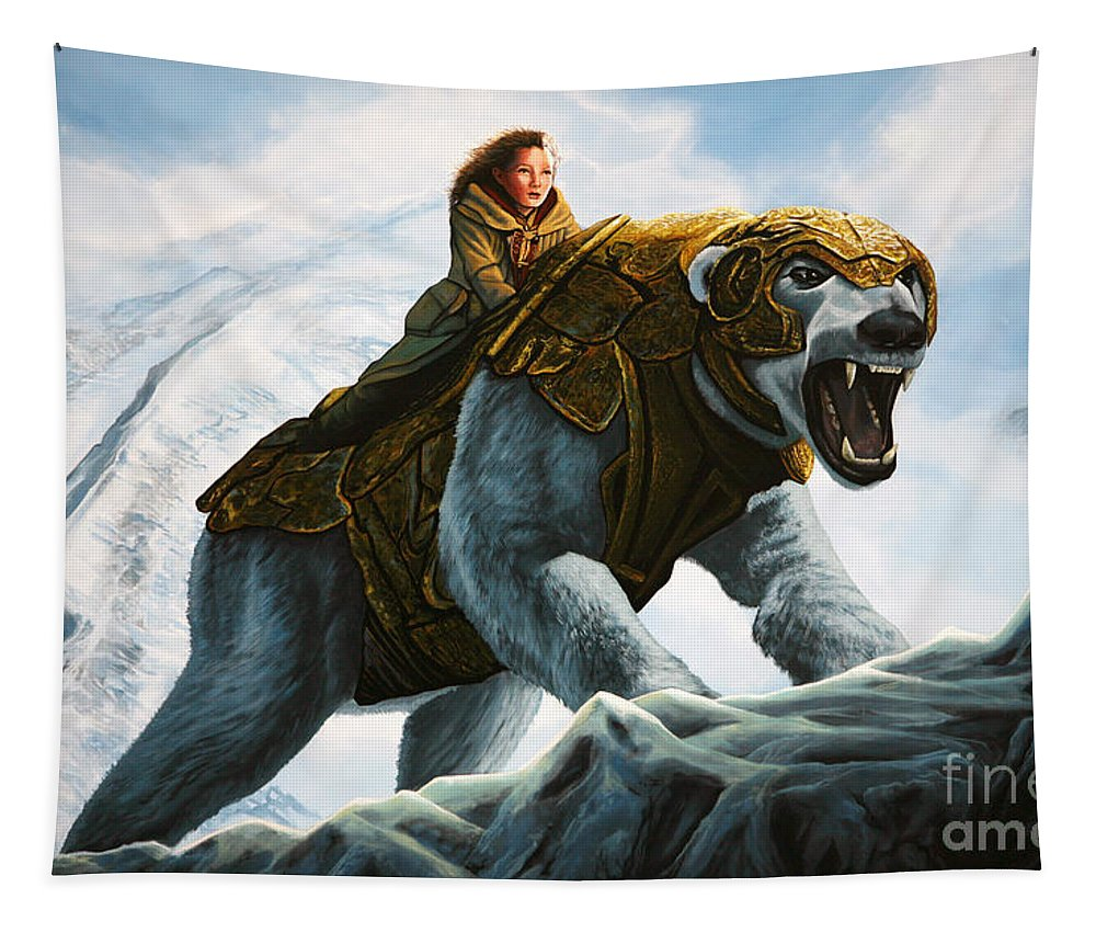 The Golden Compass Tapestry featuring the painting The Golden Compass by Paul Meijering
