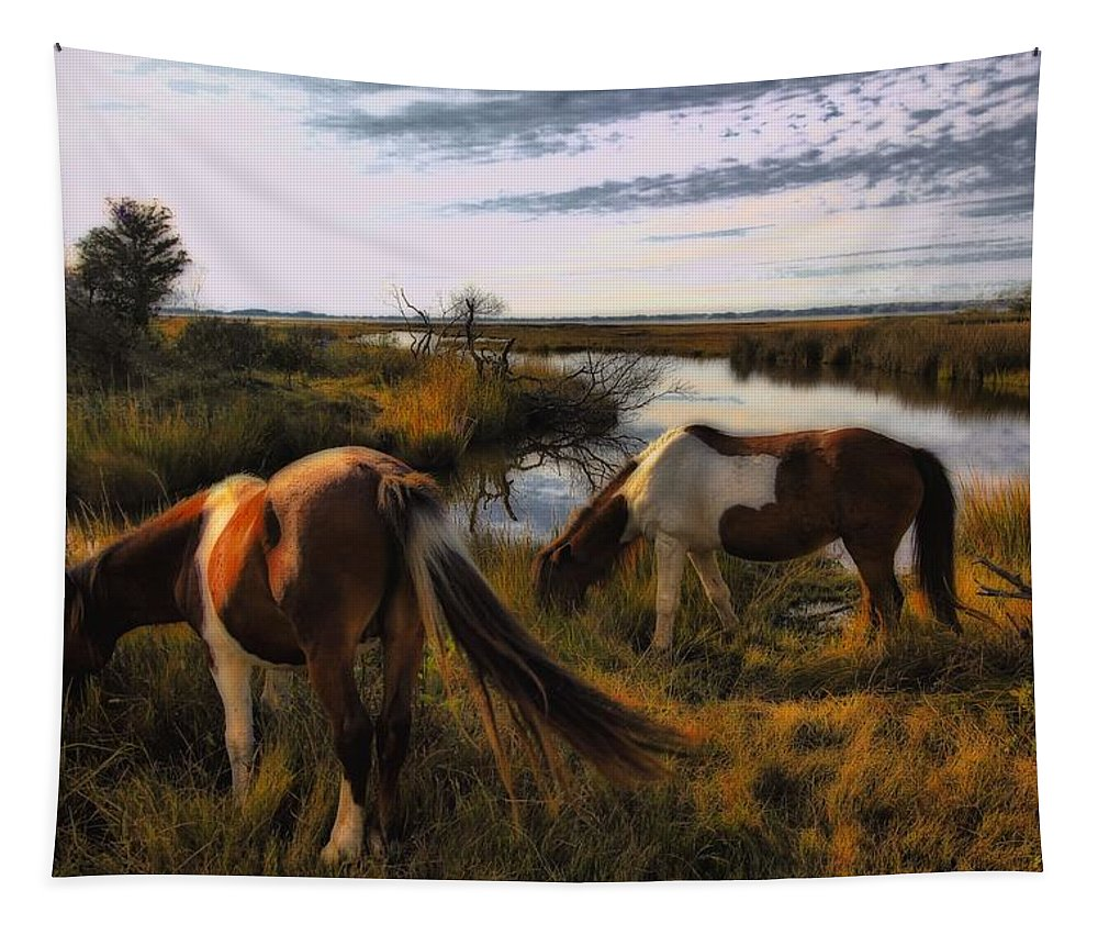 Horses Tapestry featuring the photograph The Good Life by Robert McCubbin