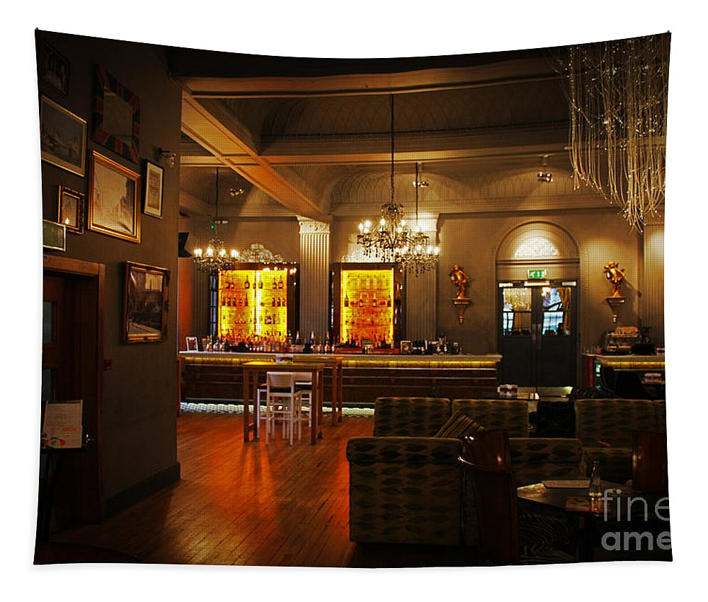Grand Cafe Tapestry featuring the photograph The Grand Cafe Southampton by Terri Waters