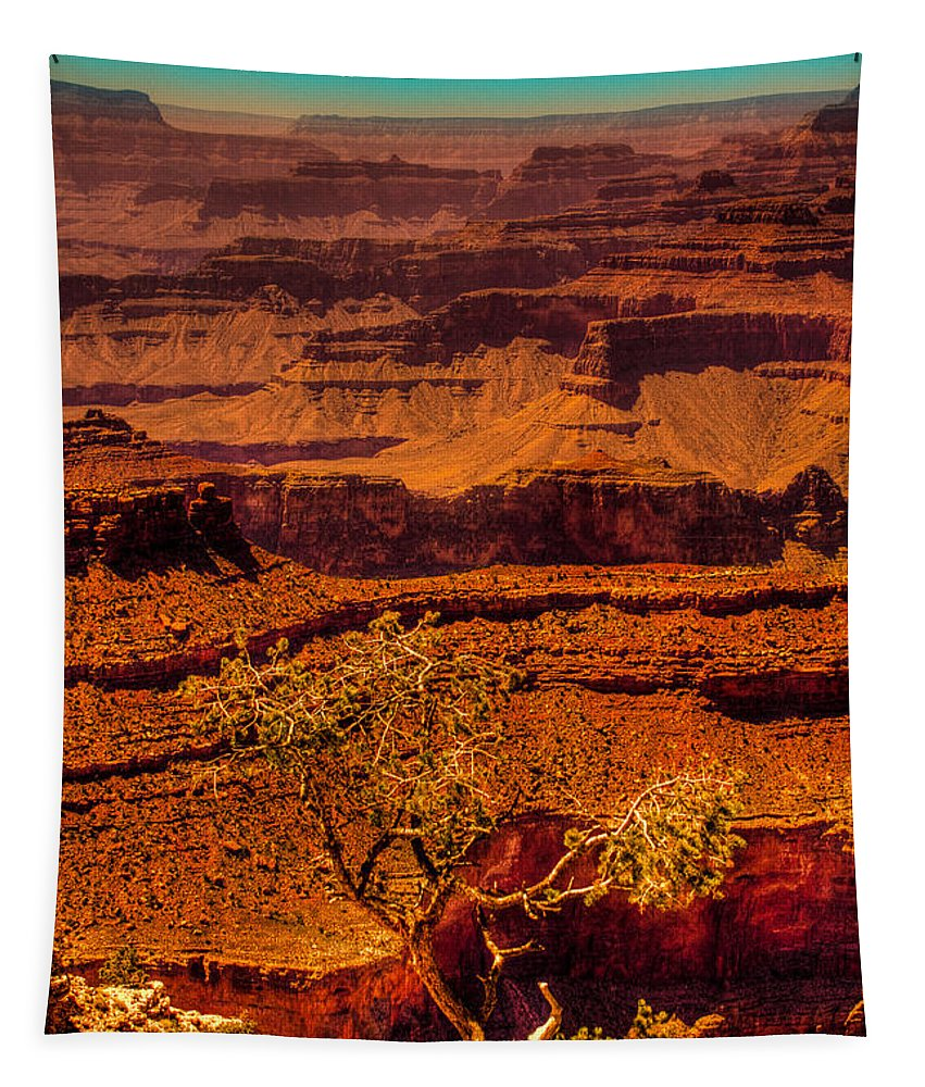Grand Canyon Tapestry featuring the photograph The Grand Canyon X by David Patterson