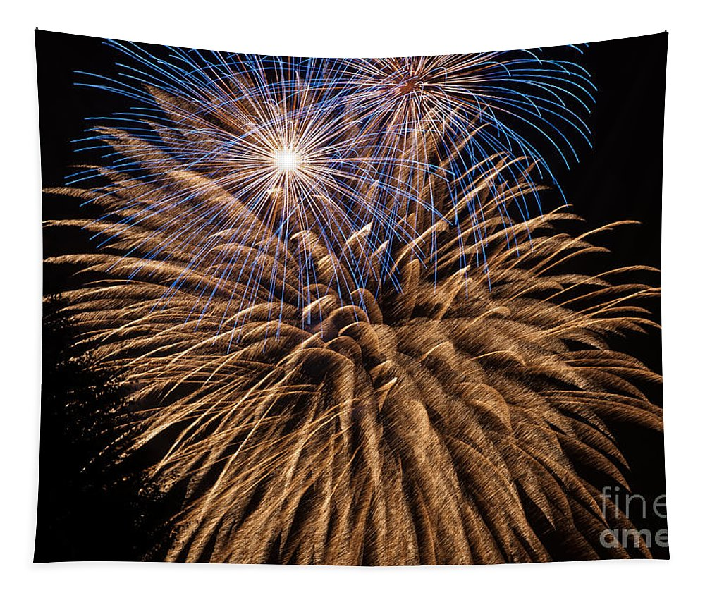 Celebration Tapestry featuring the photograph The Grand Finale by Steve Purnell
