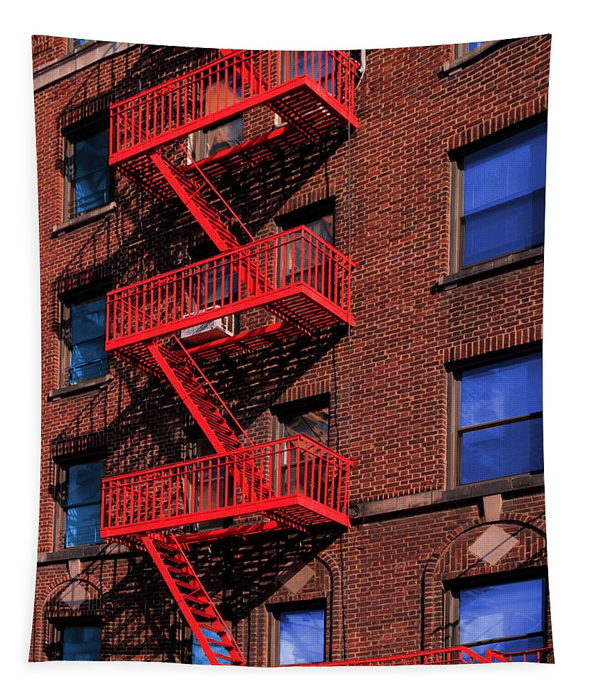 Fire Escape Tapestry featuring the photograph The Great Escape by Paul Wear