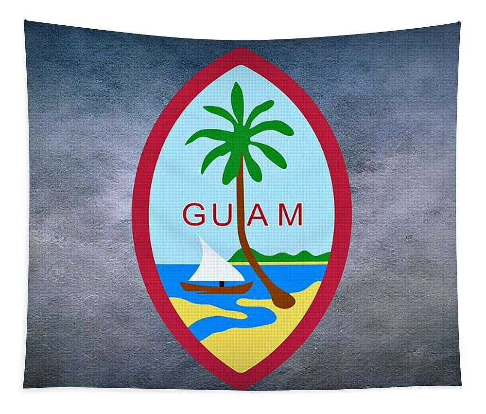 Guam Tapestry featuring the photograph The Great Seal Of Guam Territory Of Usa by Movie Poster Prints