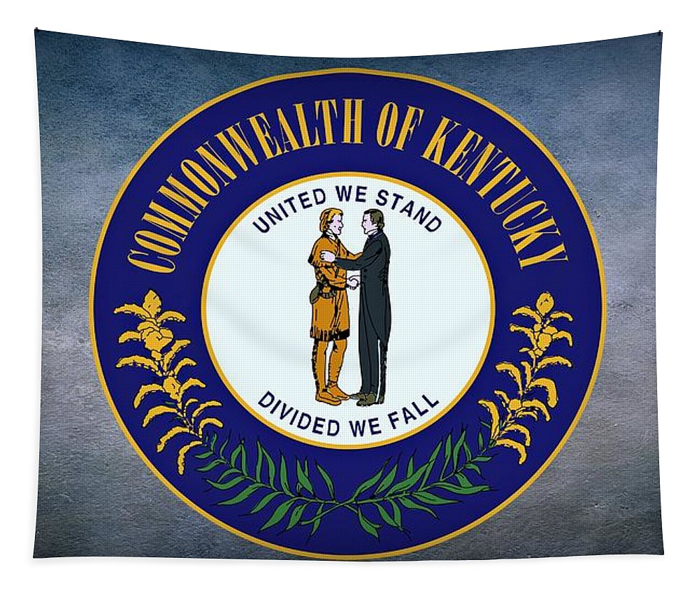 Kentucky Tapestry featuring the photograph The Great Seal Of The State Of Kentucky by Movie Poster Prints