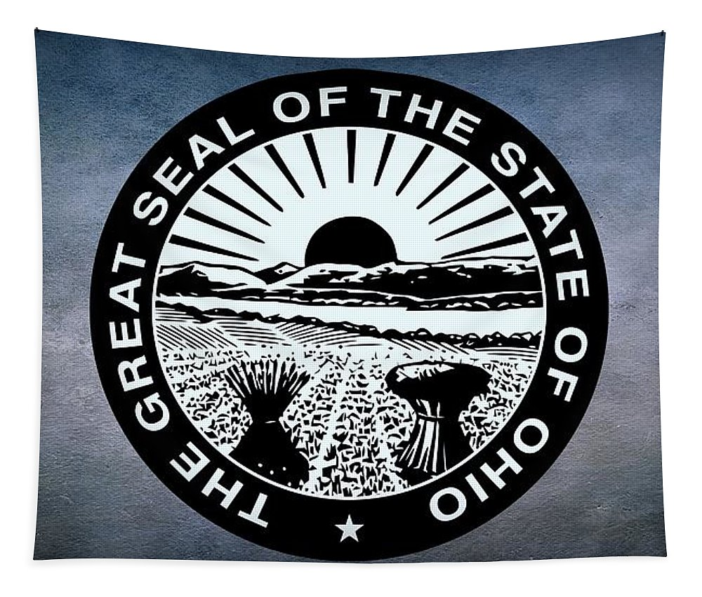 Ohio Tapestry featuring the photograph The Great Seal Of The State Of Ohio by Movie Poster Prints