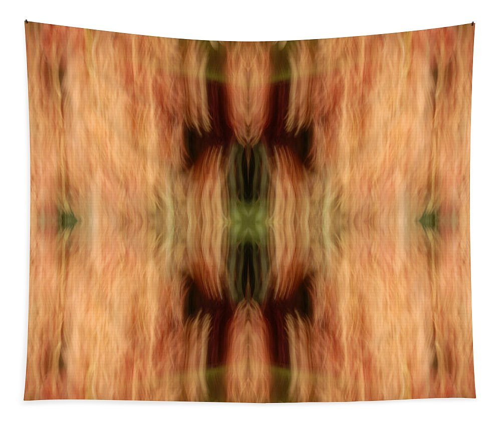 Abstract Tapestry featuring the photograph The Green X by Paul W Faust - Impressions of Light