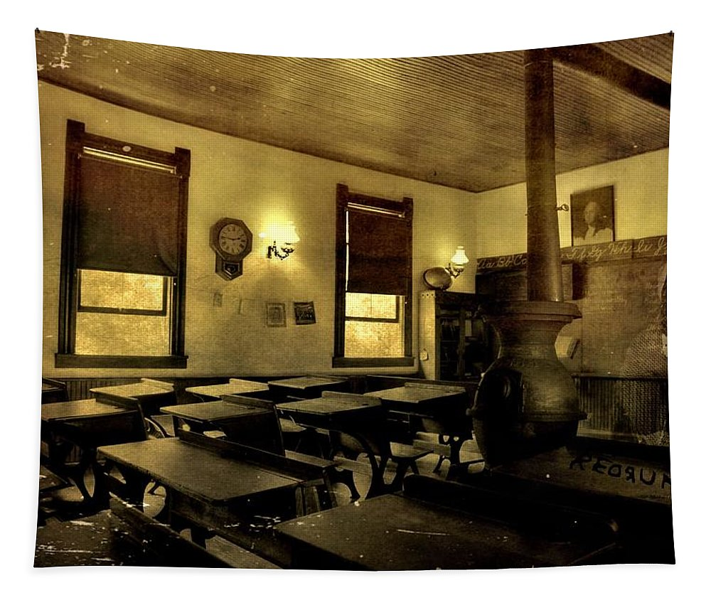 The Haunted Classroom Tapestry featuring the photograph The Haunted Classroom by Dan Sproul
