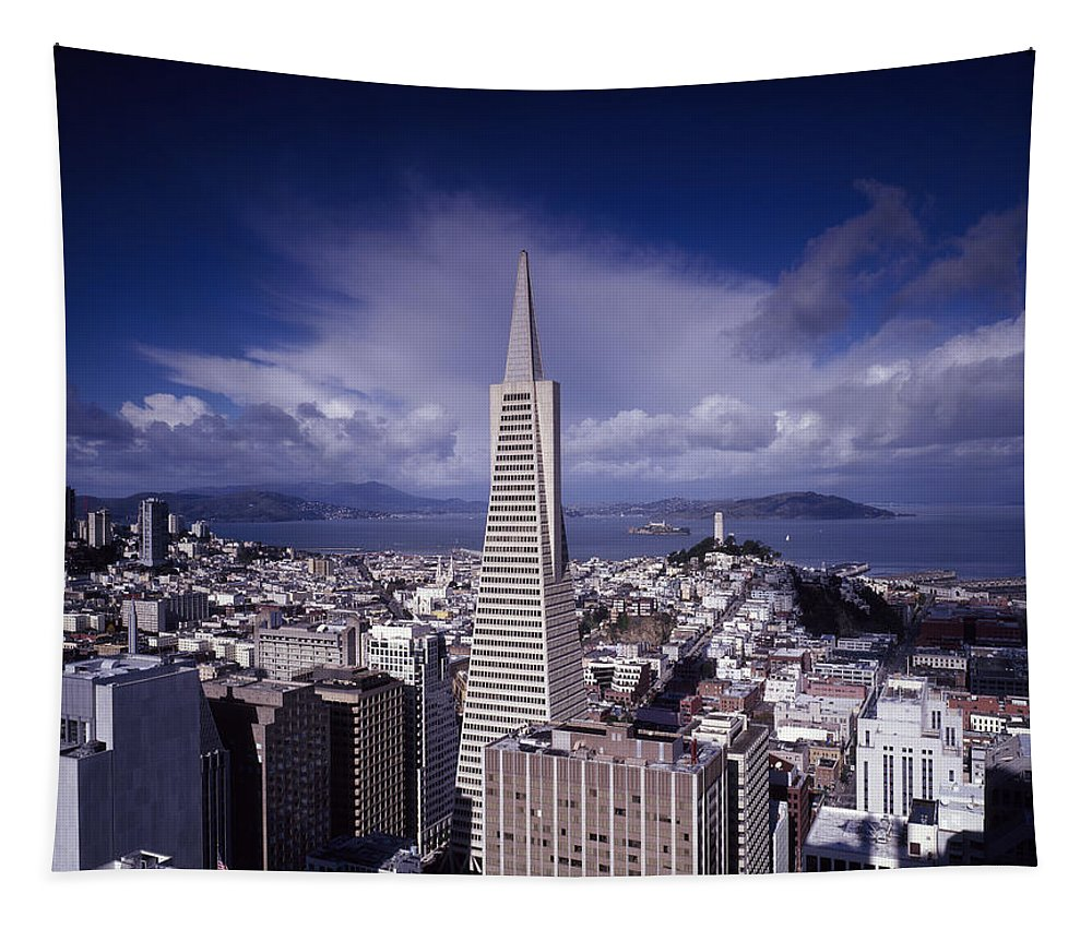 San Francisco Tapestry featuring the photograph The Heart Of San Francisco by Mountain Dreams