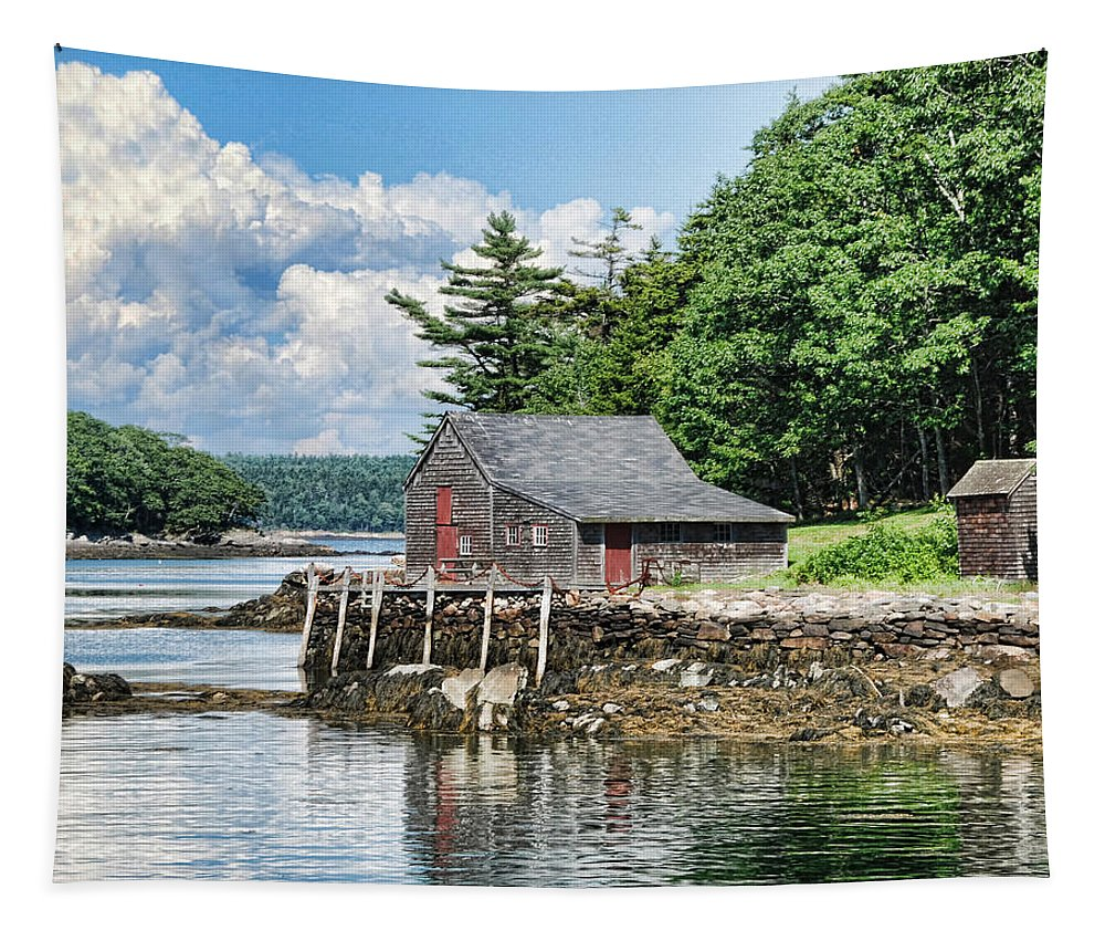 The Hideaway Tapestry featuring the photograph The Hideaway by Phyllis Taylor