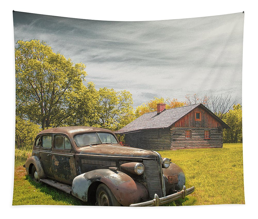 Cars Tapestry featuring the photograph The Hideout by John Anderson
