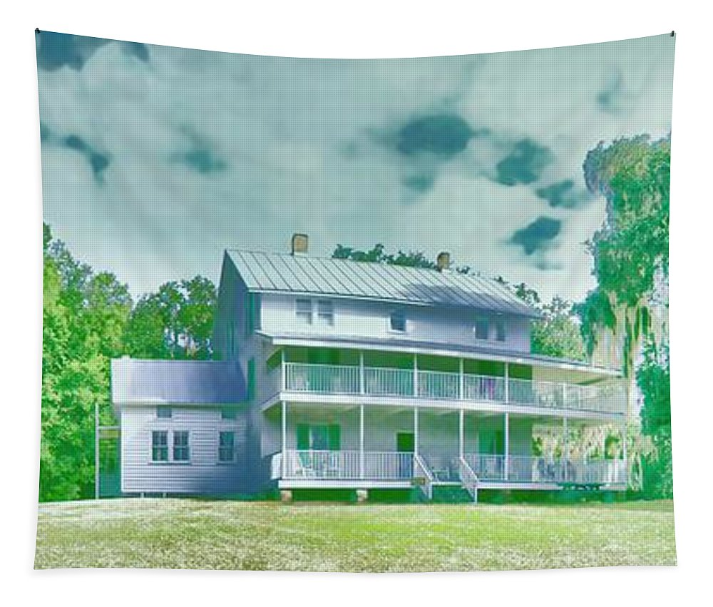 Old Florida House Tapestry featuring the photograph The Homestead by Alice Gipson