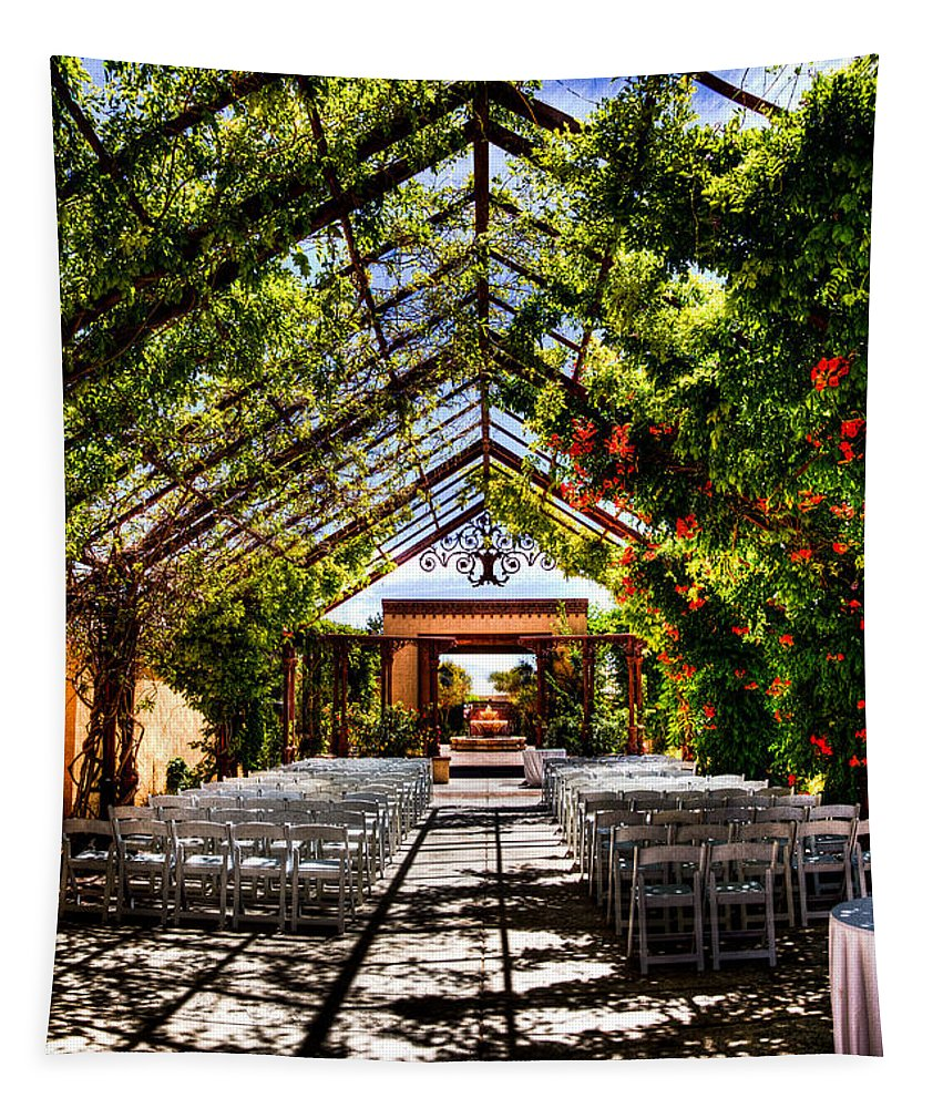 Hotel Albuquerque Tapestry featuring the photograph The Hotel Albuquerque Wedding Pavilion by David Patterson