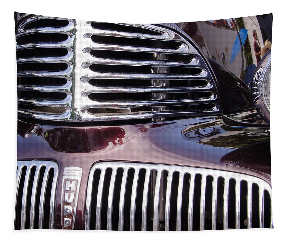 Automobiles Tapestry featuring the photograph The Hupp by Robert VanDerWal