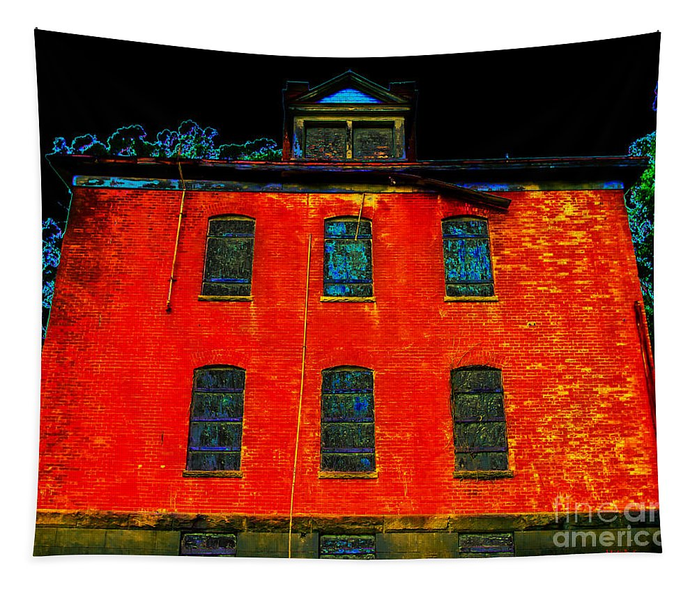 The Infirmary Tapestry featuring the photograph The Infirmary by Mitch Shindelbower