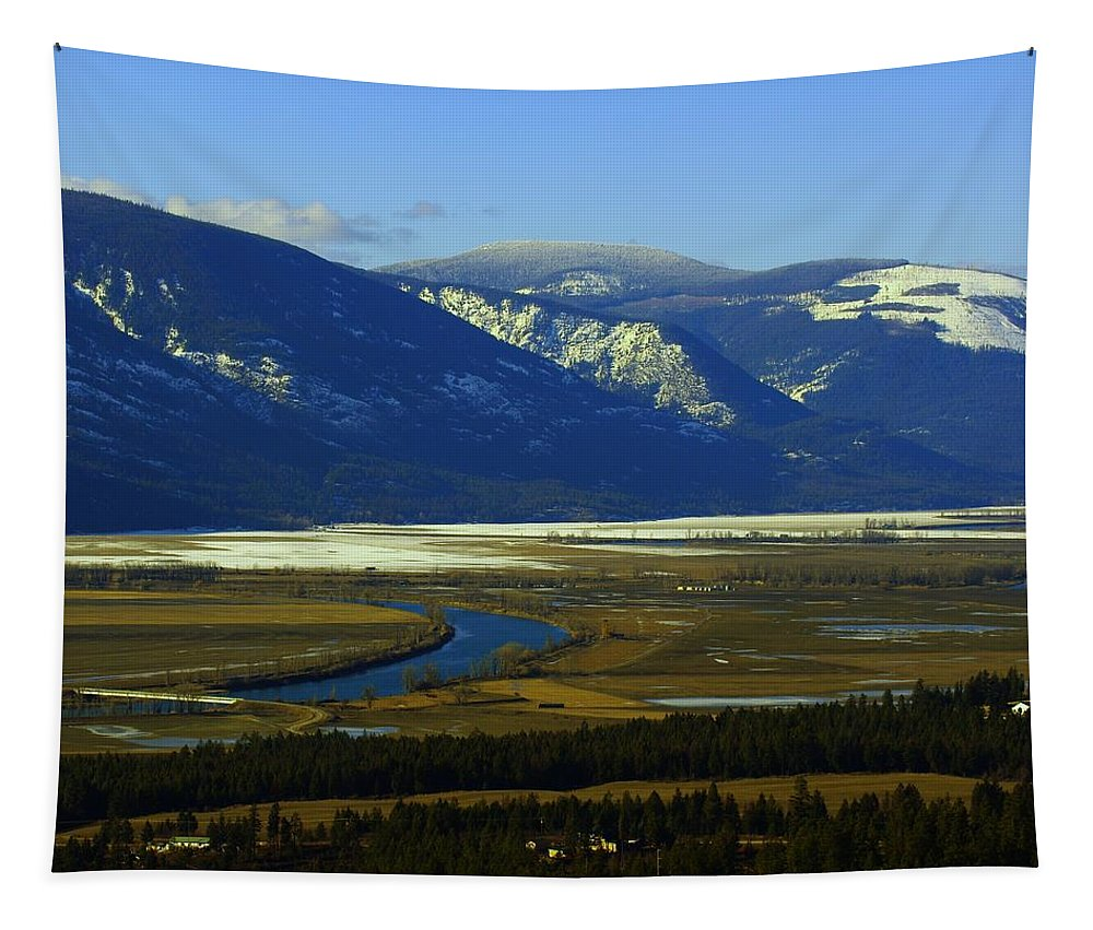Rivers Tapestry featuring the photograph The Kootanie River In Bonners Ferry Idaho by Jeff Swan
