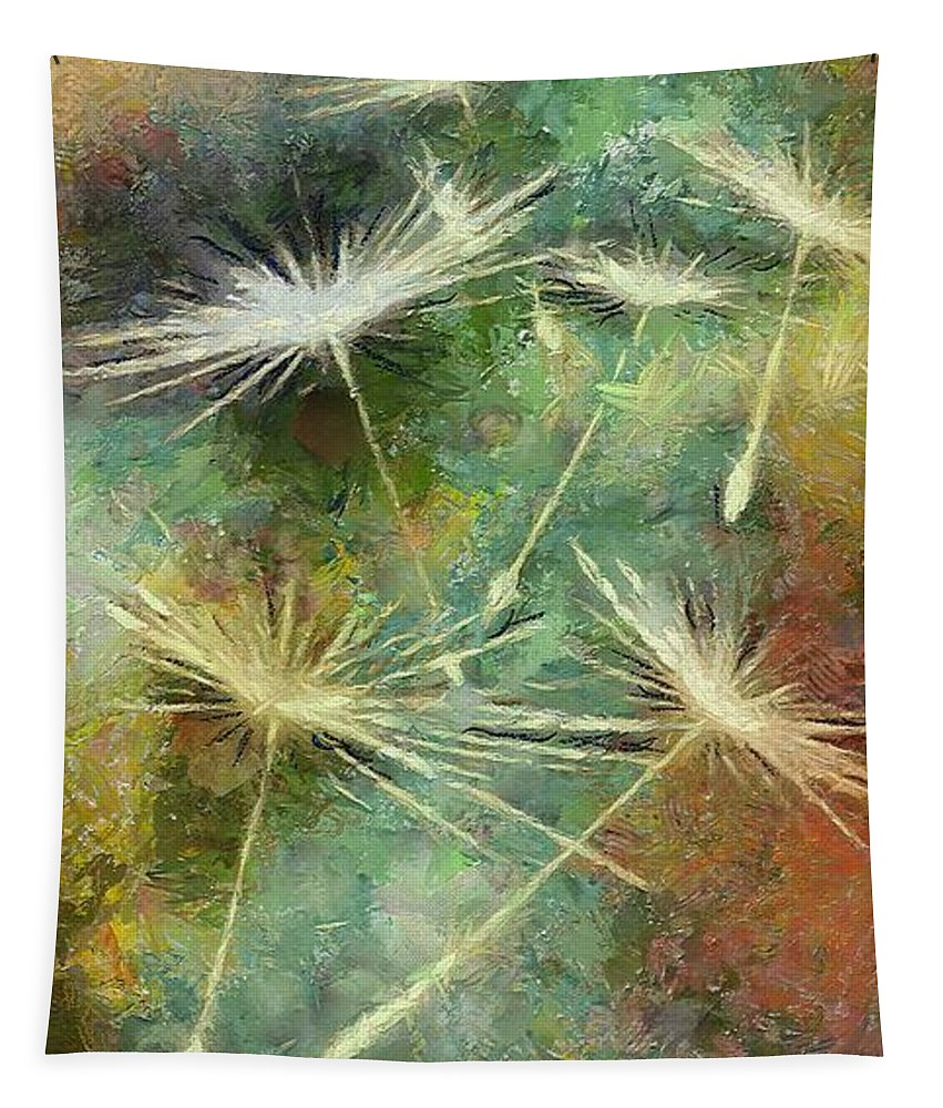 Dandelion Tapestry featuring the painting The Last Dance by Dragica Micki Fortuna