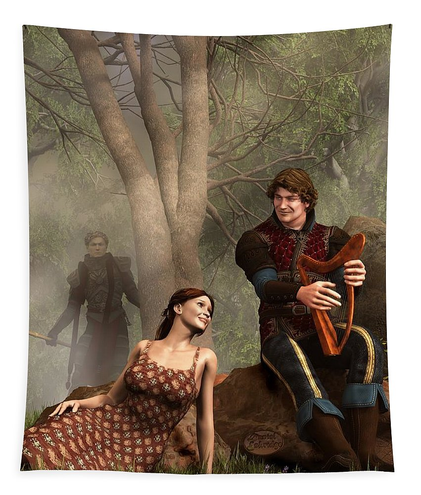 Tristan Tapestry featuring the digital art The Last Song Of Tristan by Daniel Eskridge