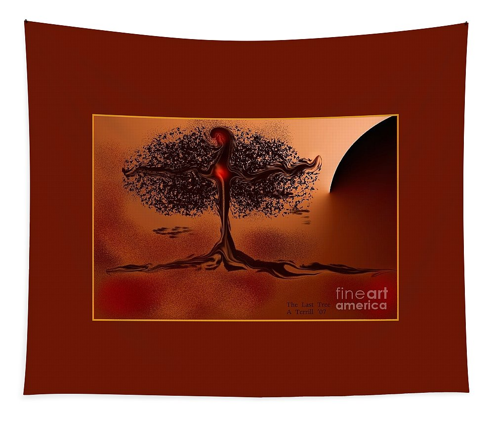 Digital Art Tapestry featuring the digital art The Last Tree by The Art of Alice Terrill