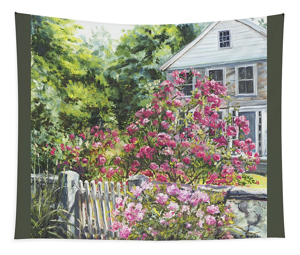 Roses Tapestry featuring the painting The Late Show by Susan Hanna