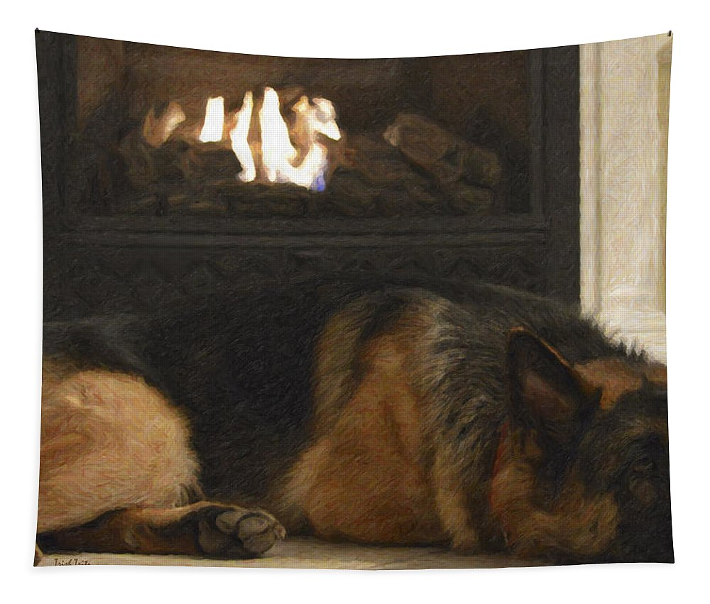 Dog Tapestry featuring the photograph The Life Of Sami by Trish Tritz