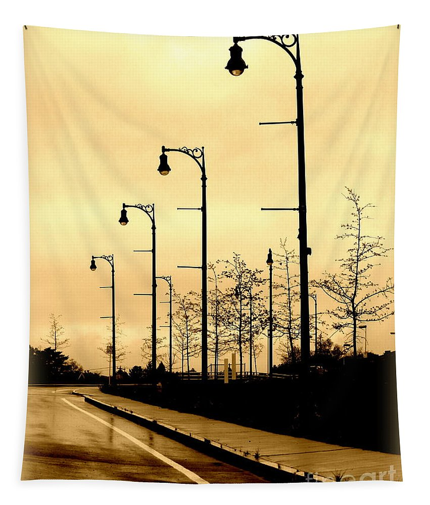 Art Tapestry featuring the photograph The Light Path by Linda Galok