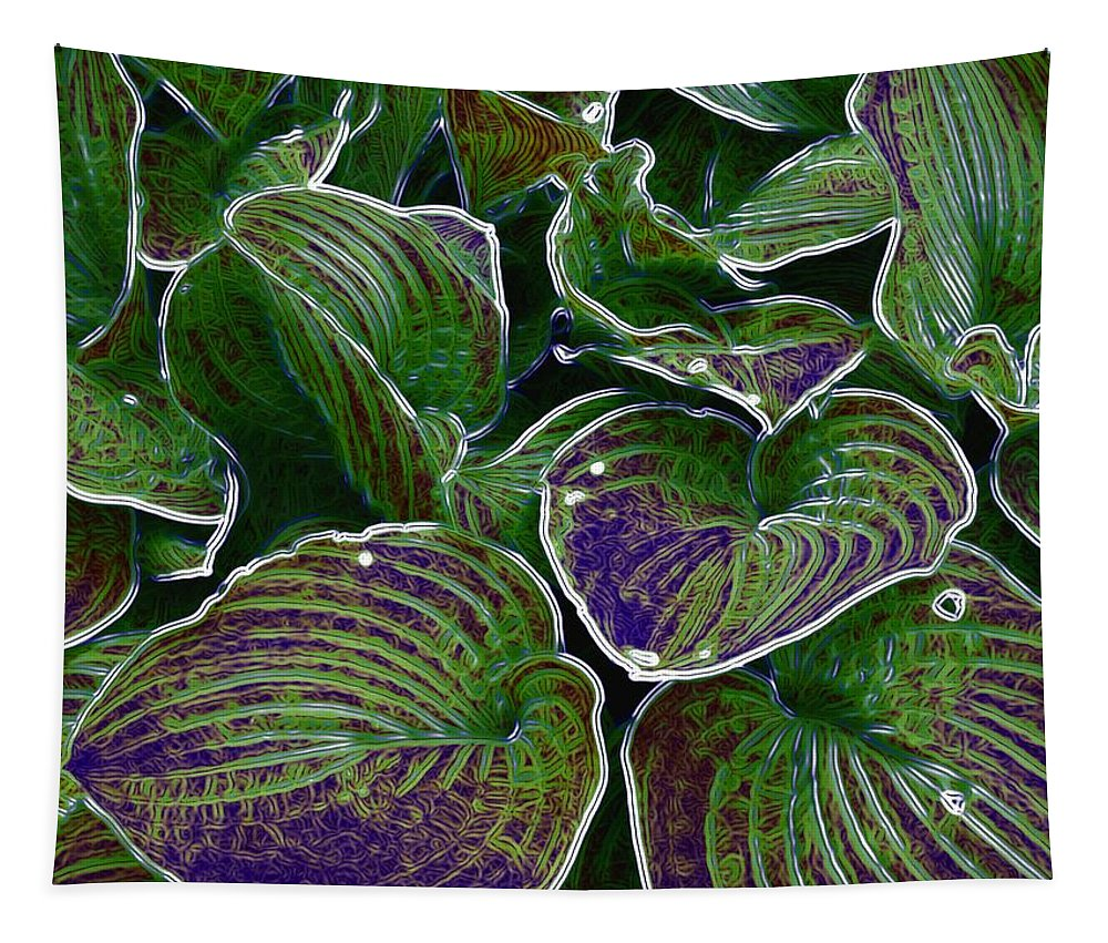Creek Tapestry featuring the mixed media The Little Pond by Pepita Selles