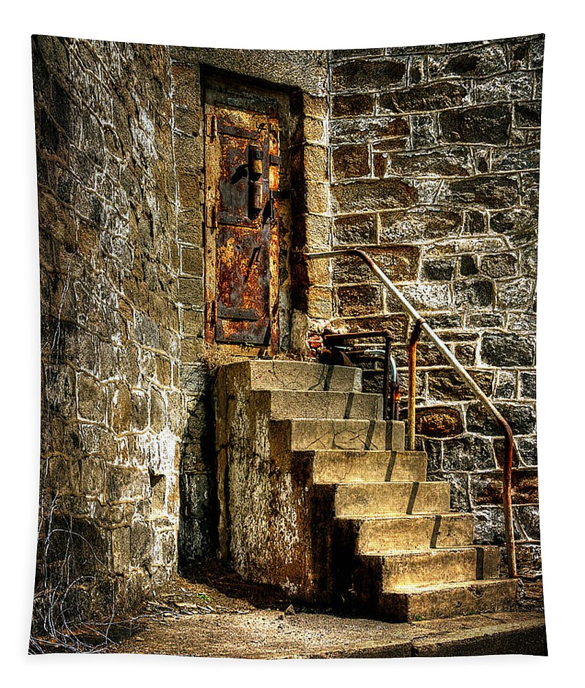 Door Tapestry featuring the photograph The Locked Door by Lois Bryan