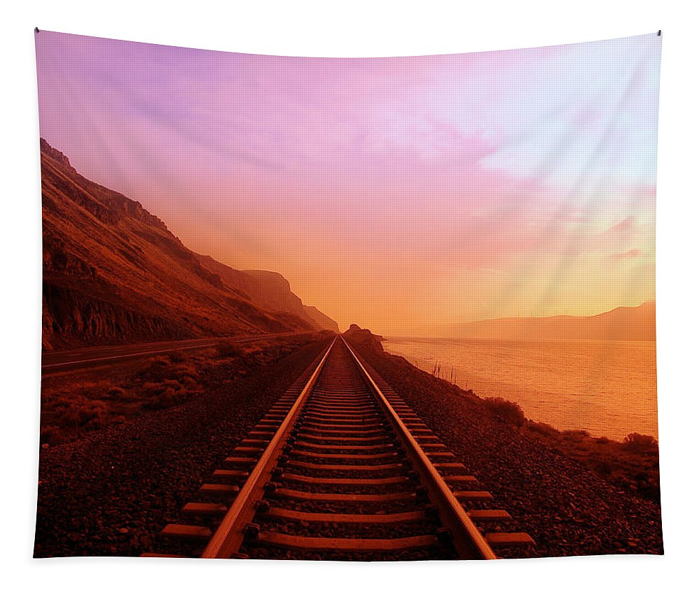 Columbia River Tapestry featuring the photograph The Long Walk To No Where by Jeff Swan