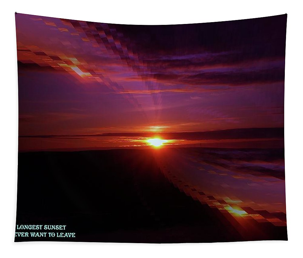 Sunsets Tapestry featuring the photograph The Longest Sunset by Jeff Swan