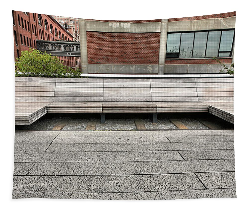 High Line Tapestry featuring the photograph The Love Seat by JC Findley