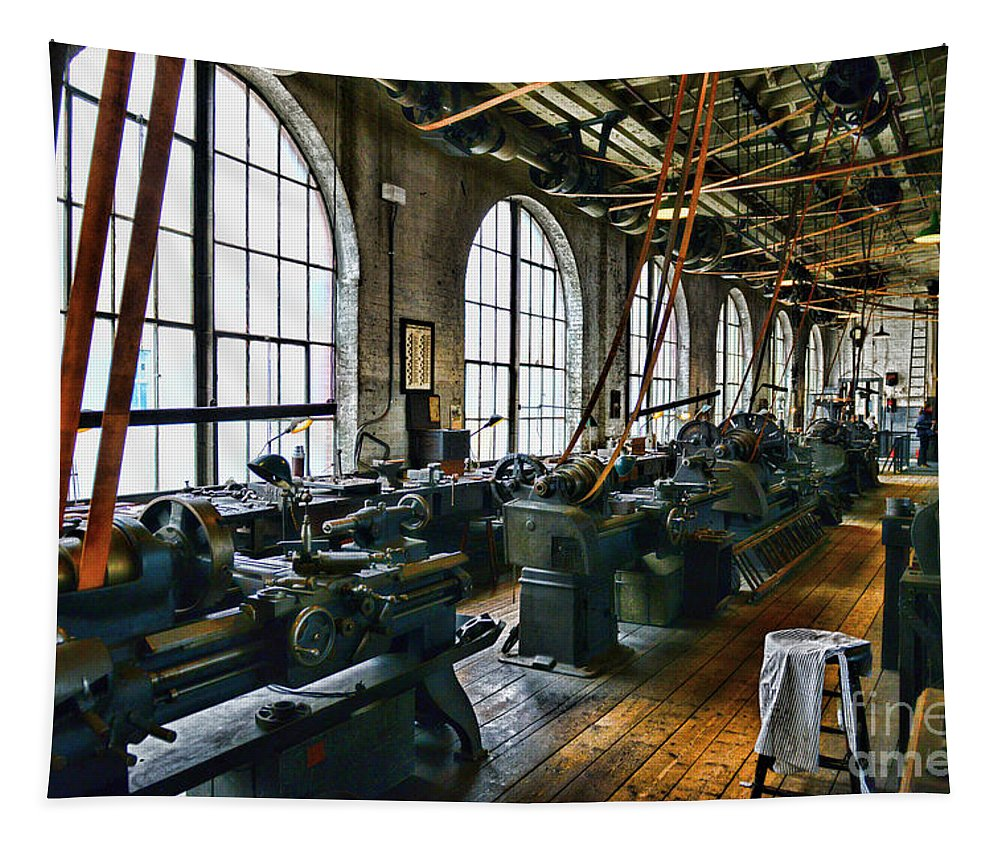 Paul Ward Tapestry featuring the photograph The Machine Shop by Paul Ward