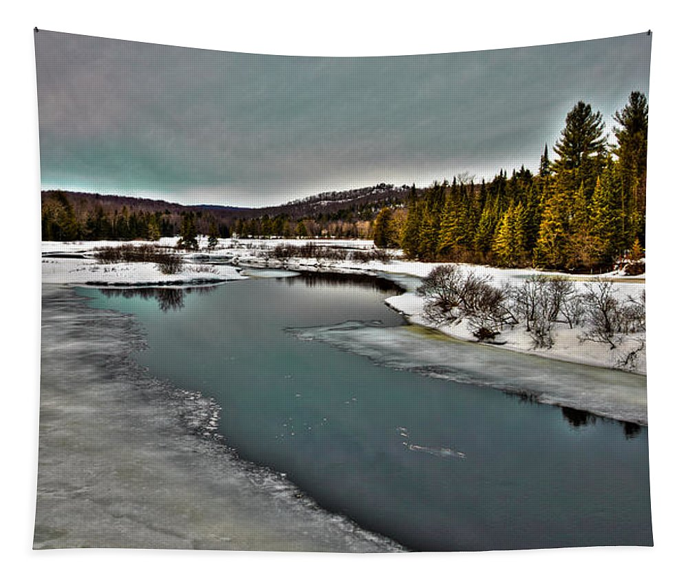 Adirondack's Tapestry featuring the photograph The Melting Of The Moose River In The Adirondacks by David Patterson