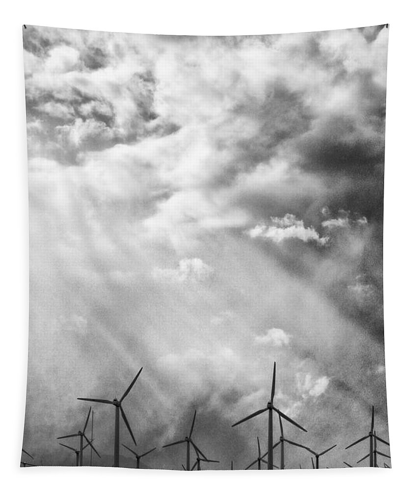 Windmills Tapestry featuring the photograph The Mighty Wind Palm Springs by William Dey