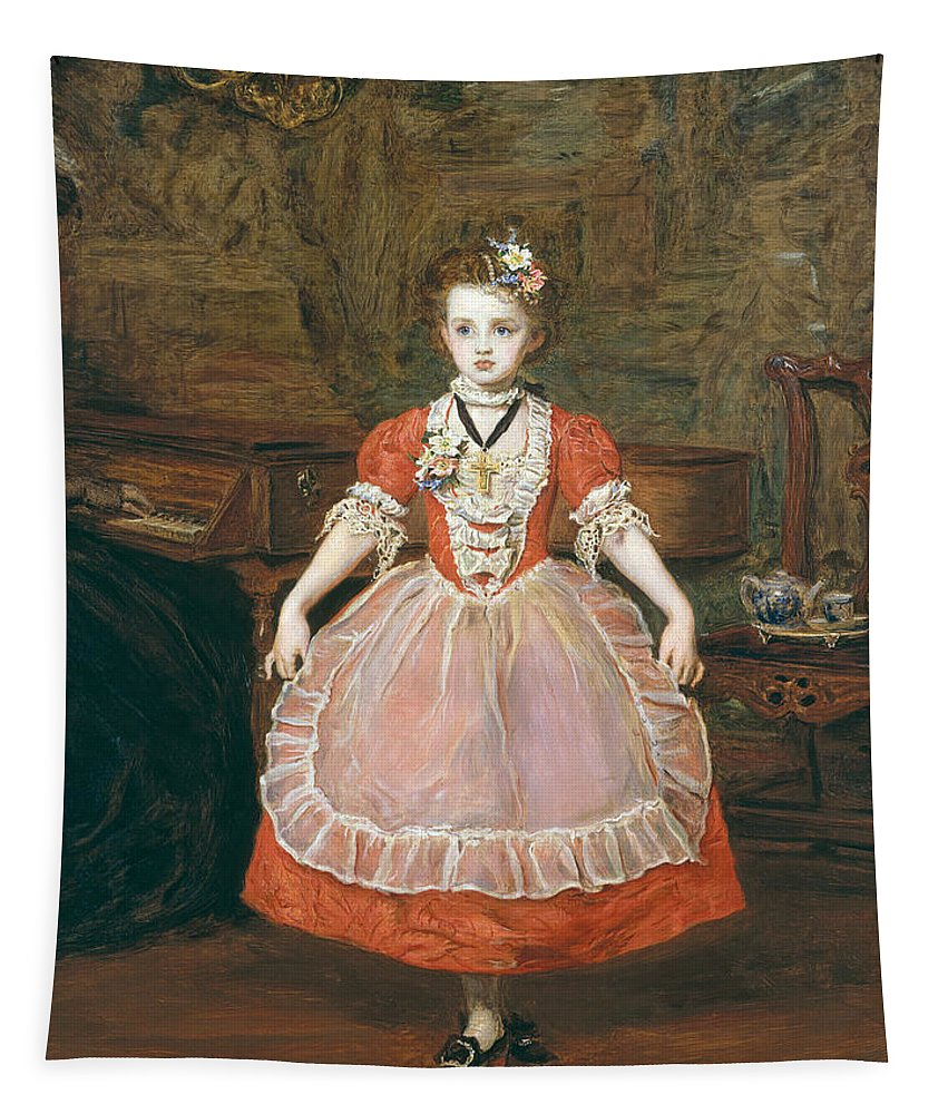 Minuet Tapestry featuring the painting The Minuet by Sir John Everett Millais