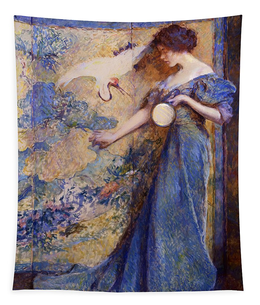 Painting Tapestry featuring the painting The Mirror by Mountain Dreams