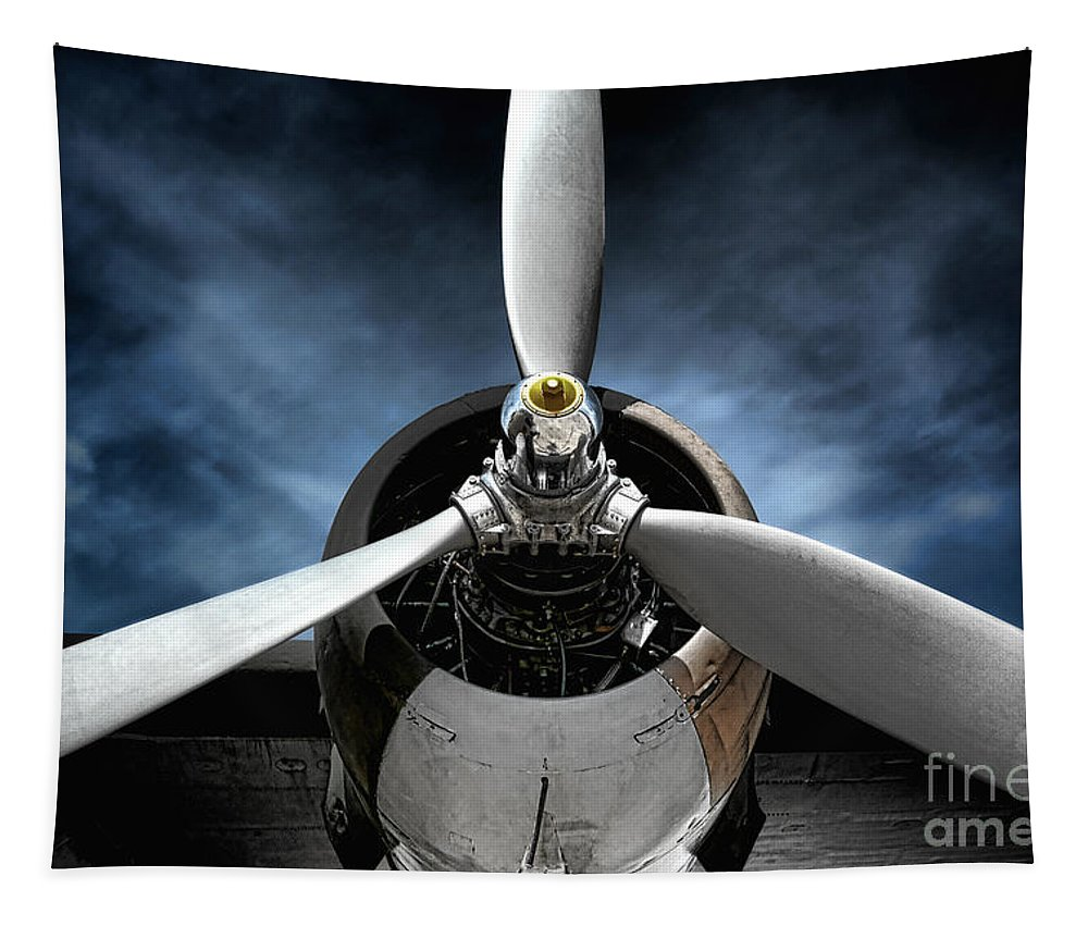 Plane Tapestry featuring the photograph The Mission by Olivier Le Queinec