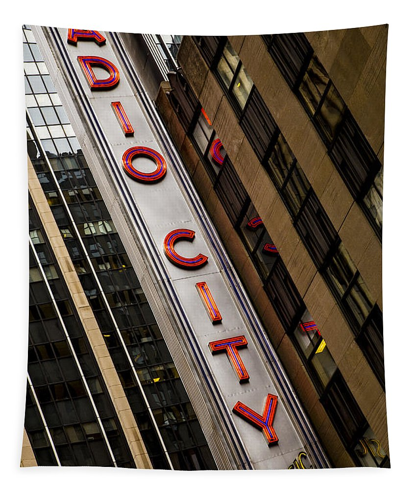 Radio City Music Hall Tapestry featuring the photograph The Music Hall by Karol Livote
