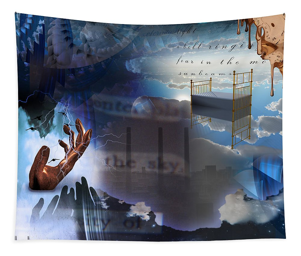 Abstract Tapestry featuring the digital art The Necessity Of Peace by Bruce Rolff