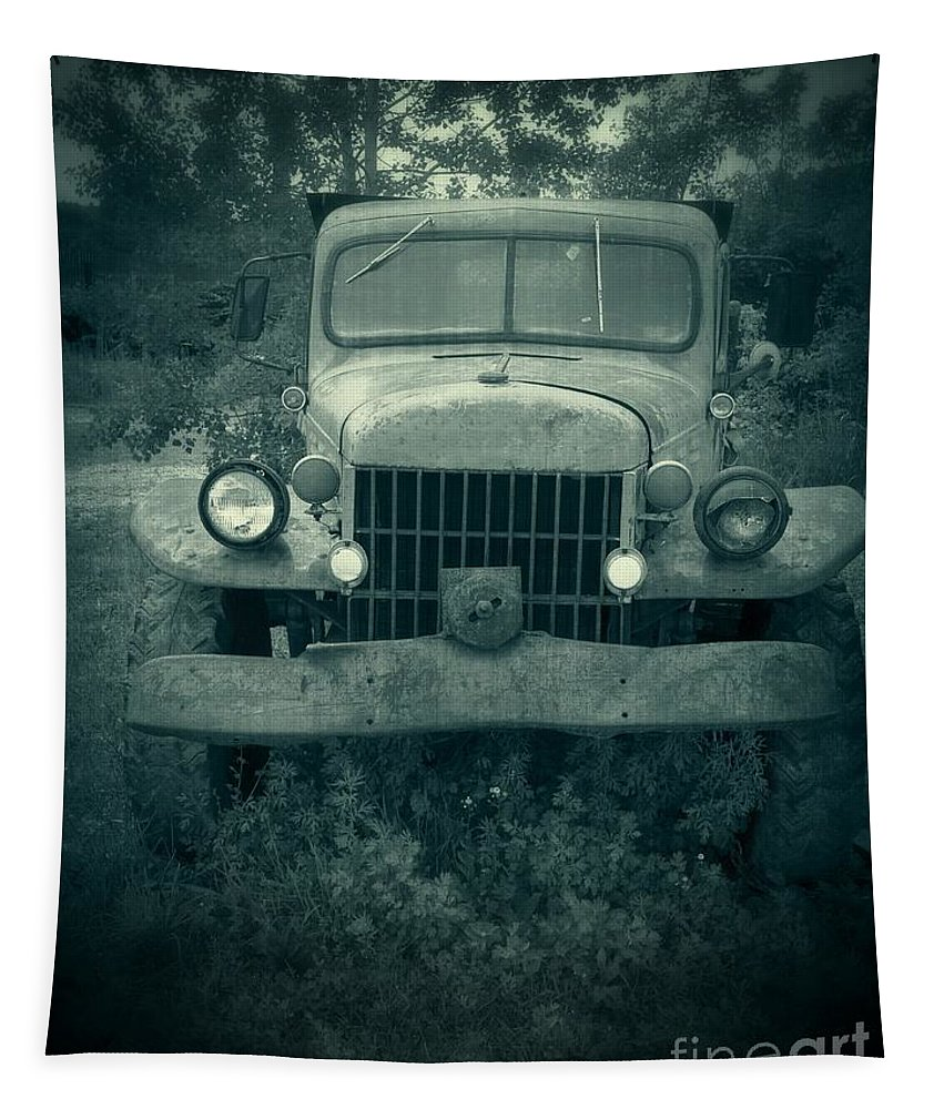 Truck Tapestry featuring the photograph The Old Dodge by Edward Fielding