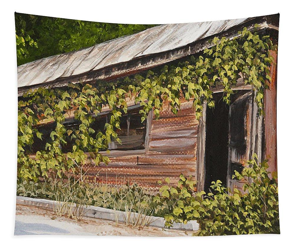 General Store Tapestry featuring the painting The Old General Store by Darice Machel McGuire