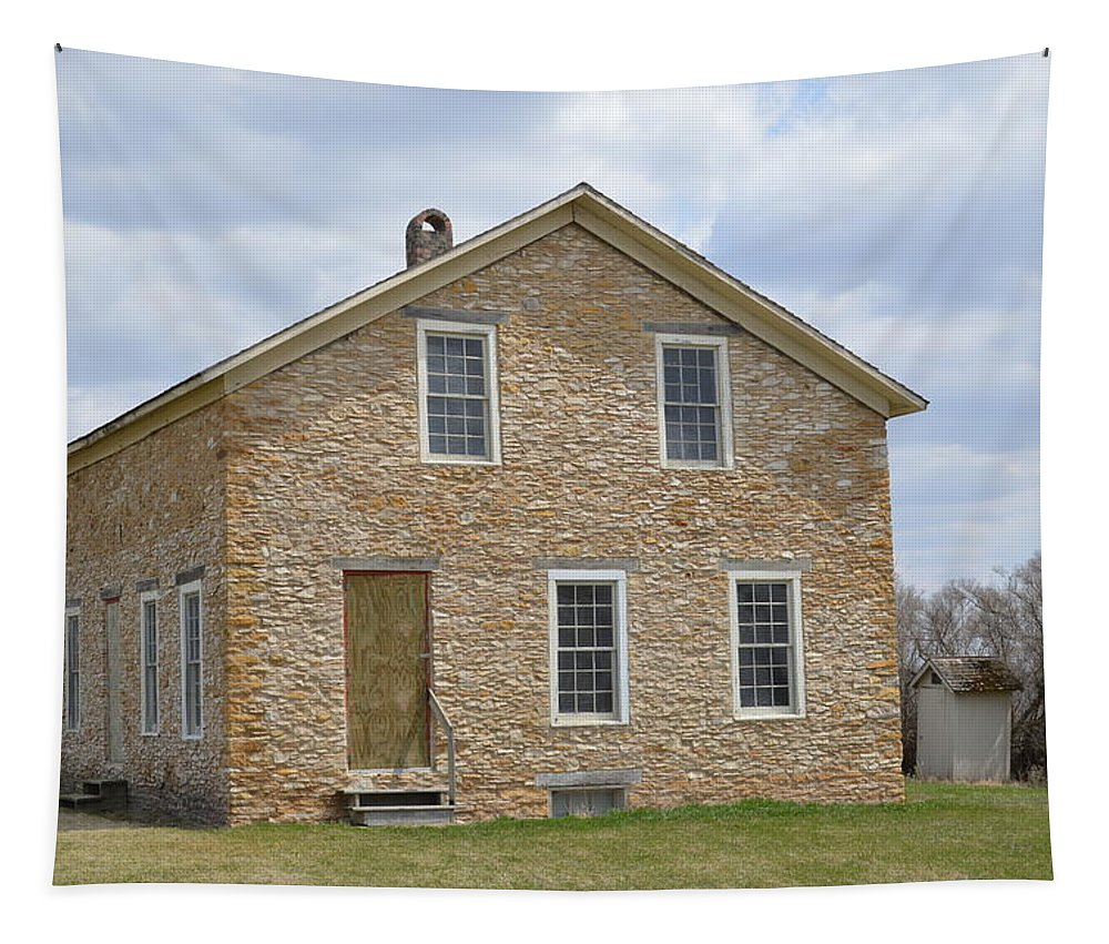 Stone Tapestry featuring the photograph The Old Stone House by Bonfire Photography