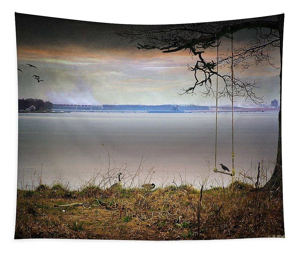 2d Tapestry featuring the photograph The Old Swing by Brian Wallace