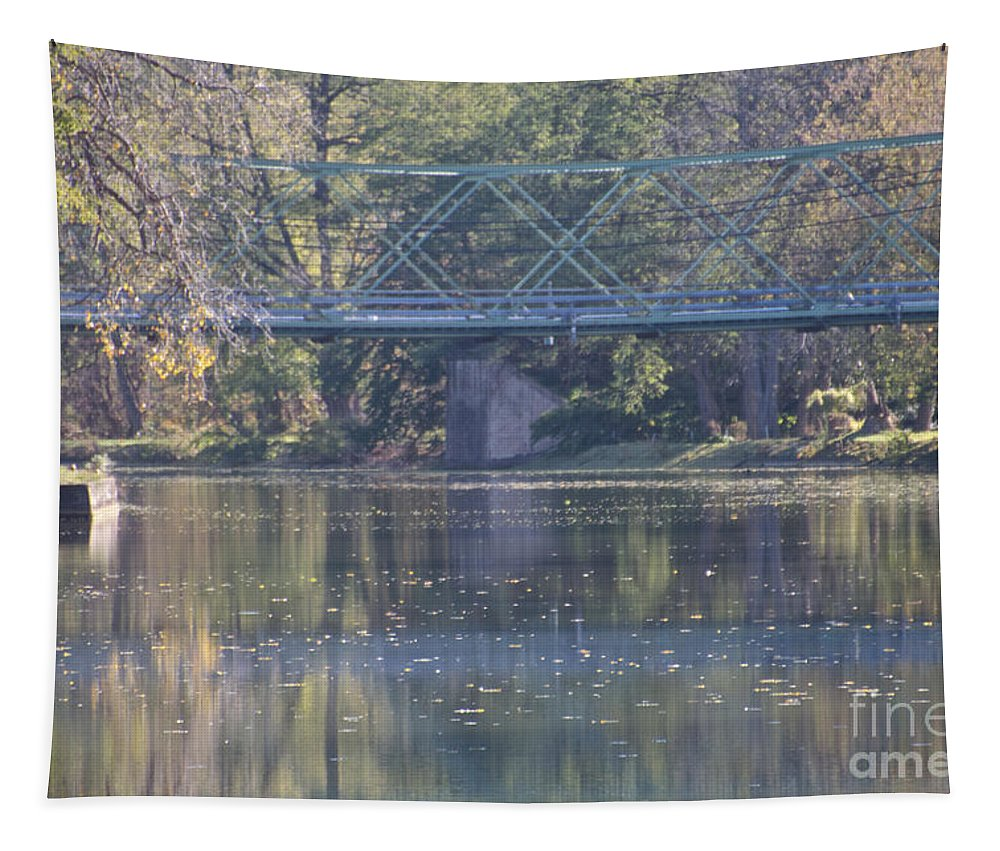 Erie Canal Tapestry featuring the photograph The Overpass by William Norton