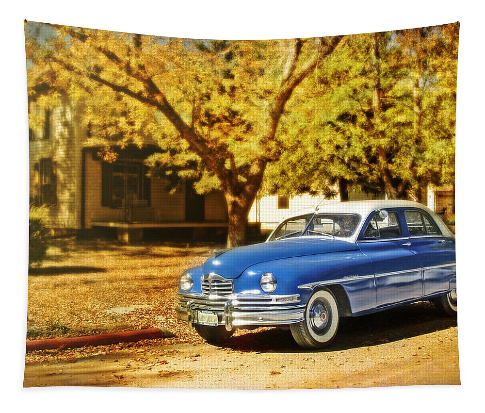 Cars Tapestry featuring the photograph The Packard by John Anderson