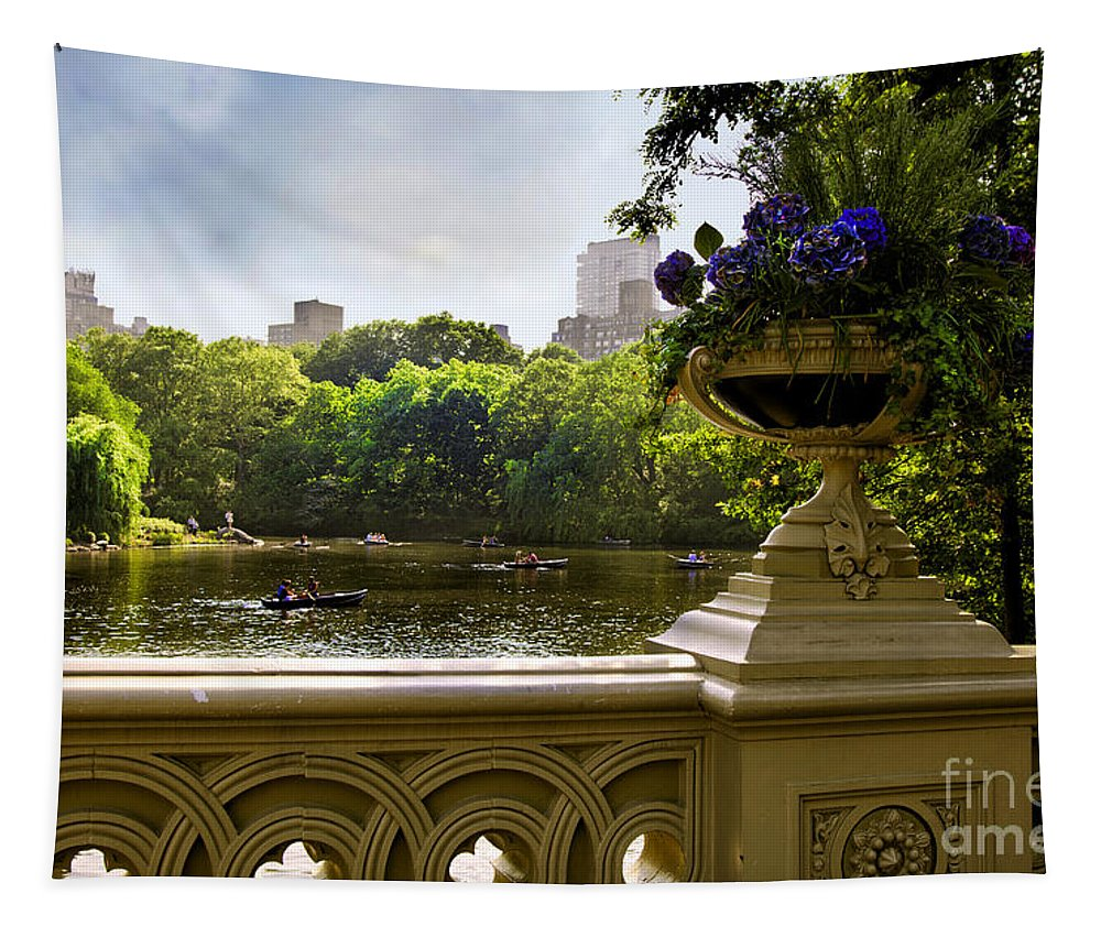 Park Tapestry featuring the photograph The Park On A Sunday Afternoon by Madeline Ellis
