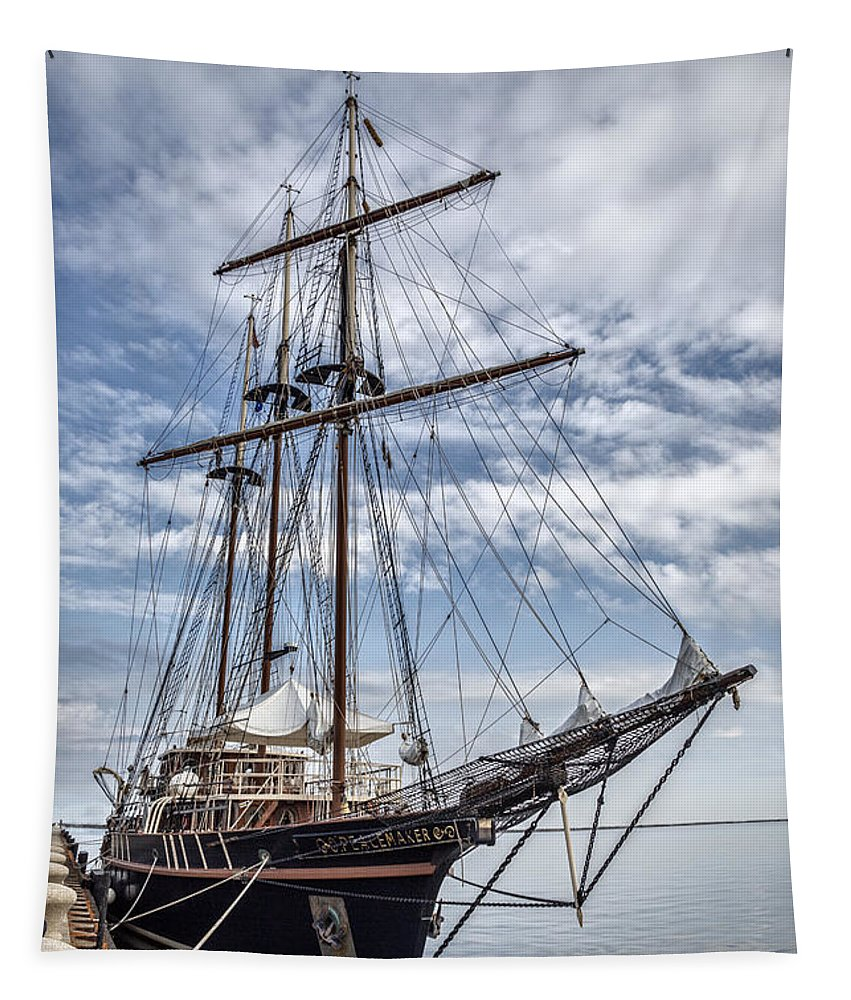 Peacemaker Tapestry featuring the photograph The Peacemaker Tall Ship by Dale Kincaid