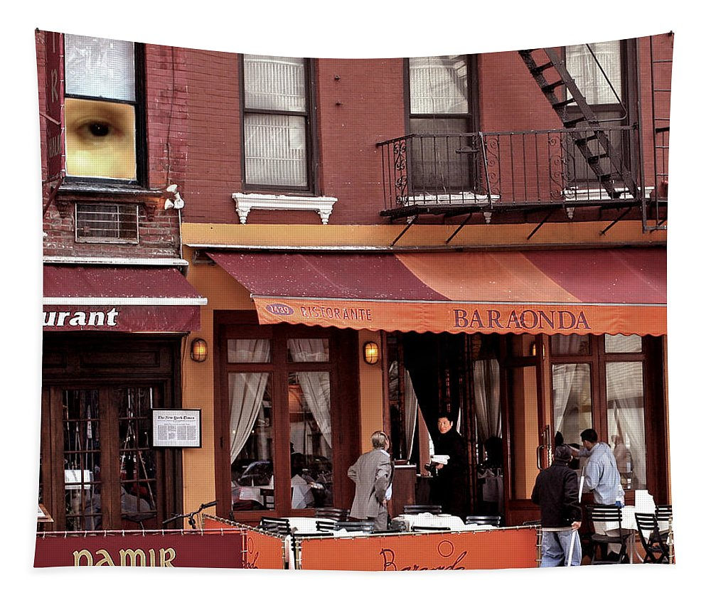 Restaurant Tapestry featuring the photograph The Photographer's Eye by Madeline Ellis