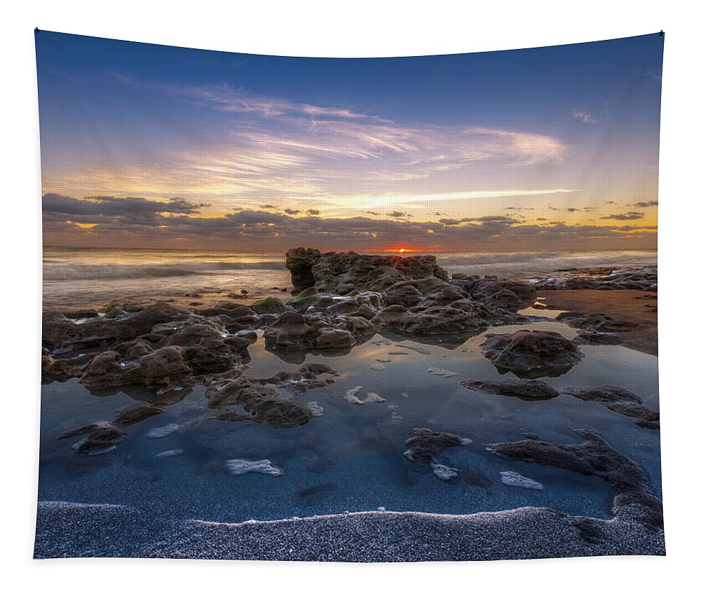 Clouds Tapestry featuring the photograph The Promise by Debra and Dave Vanderlaan