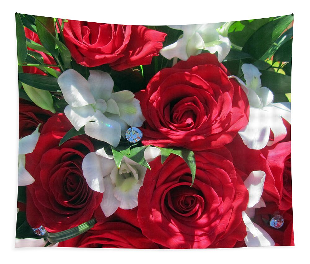 Red Roses Tapestry featuring the photograph The Proposal by Tikvah's Hope