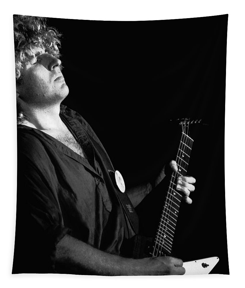 Sammy Hagar Tapestry featuring the photograph The Red Rocker In Spokane 1978 by Ben Upham